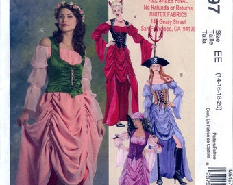 McCall's M5497 Sewing Pattern for Misses' Costumes - Uncut - Size 14, 16, 18, 20