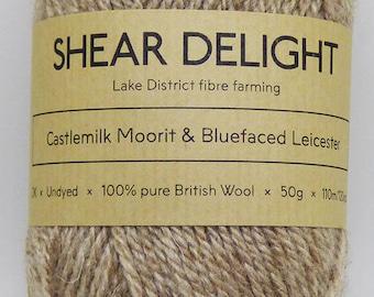 Castlemilk Moorit x Bluefaced Leicester - Double Knit 100% British Wool