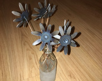 Metal Art Hand Made Flowers