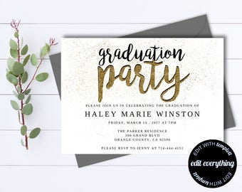 graduation party invitation template