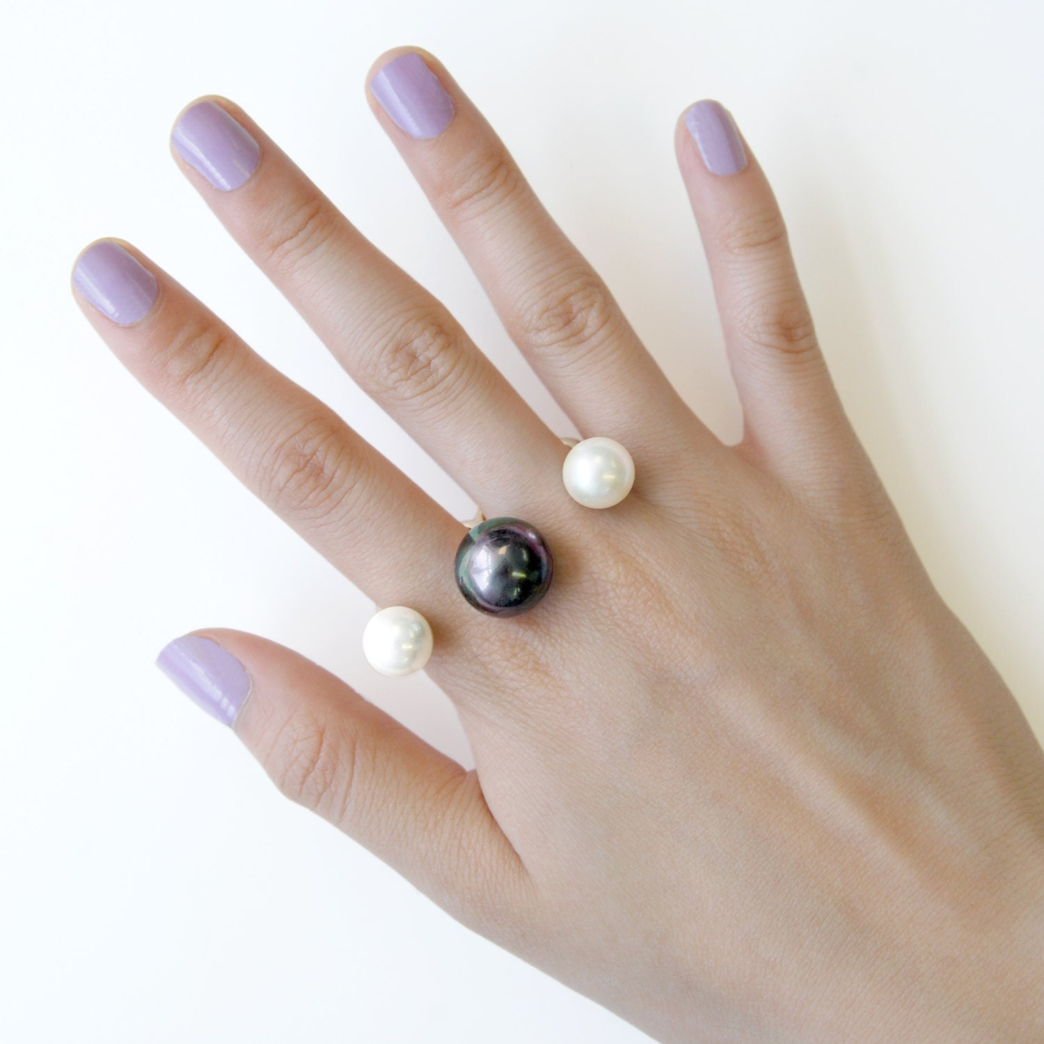 Pearl Ring Gold Finger Ring Gold Ring Knuckle Ring
