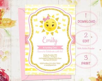 Sunshine invitation Etsy