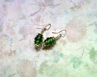 Peridot Green Earrings (1737)