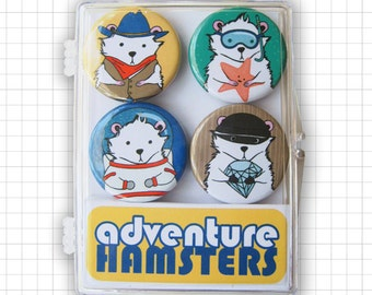 Adventure Hamsters Magnet Set