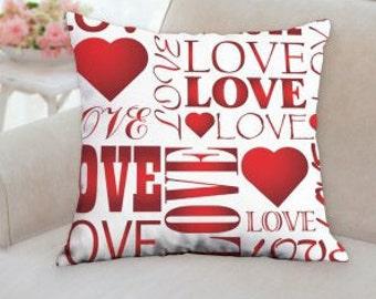 Love Text Pillow