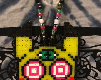 Trippy Pikachu Perler Necklace