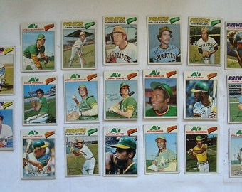 These 20 (VG or better cond)  MAJOR League Baseball cards. All are Topps brand 1977 Cards.  see description