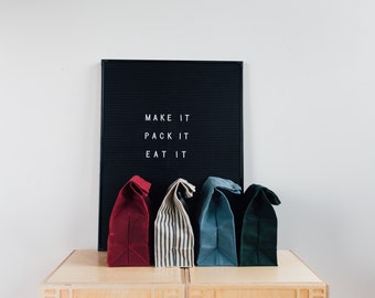 Waxed Canvas Lunch Bag // Waxed Canvas Lunch Bags
