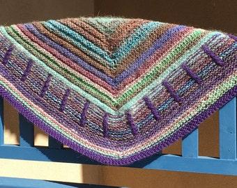 Handknit shawl