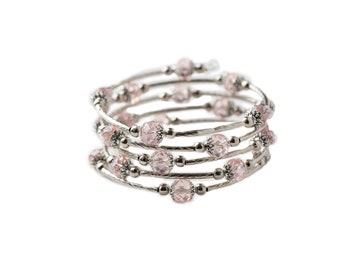 Pretty in Pink Wrap Bracelet