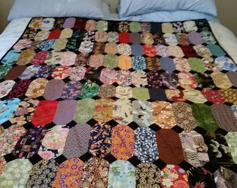 Quilt. Japanese inspired in a multitude of colours