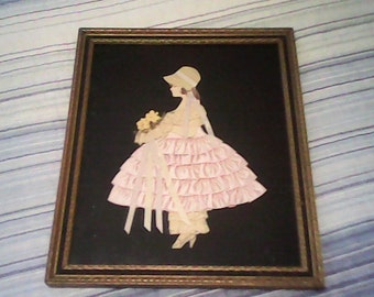 40s RIBBON ART Picture Flower Girl Bridesmaid