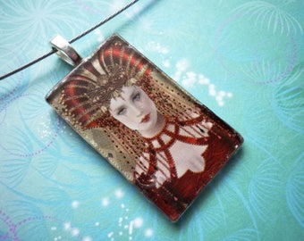 Scarlett - Glass Necklace - Handcrafted Necklace - Picture Necklace - Image Necklace