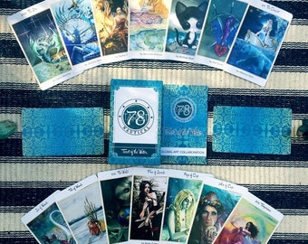 SALE 78 Tarot Nautical - Tarot of the Water - Just the Deck - LE - divination, occult, Indie Deck, Sea Tarot, Water Tarot, Ocean Tarot