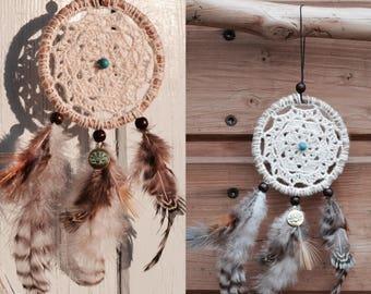 DreamCatcher Dream catcher / Dreamcatcher, mandala crochet /decor boho Bohemian /car Fort /decoration