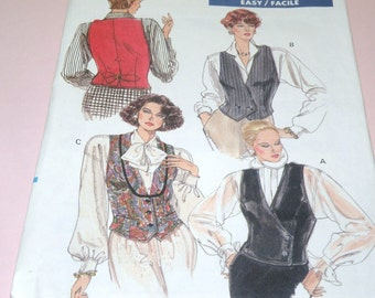 Vogue 7573 Uncut and Easy VEST Pattern sizeis 8,10,12