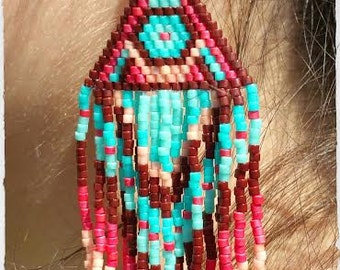 Indian-style woven earrings