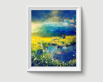 Norway Painting Postcard Poster Art Print Q112