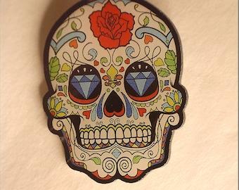 Sugar Skull Pin (Rose)