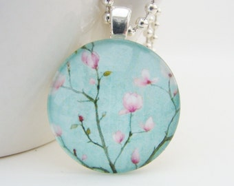 Tulip Tree Pendant with Free Necklace