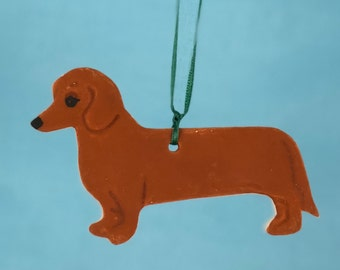 Dachshund - Porcelain Ornament