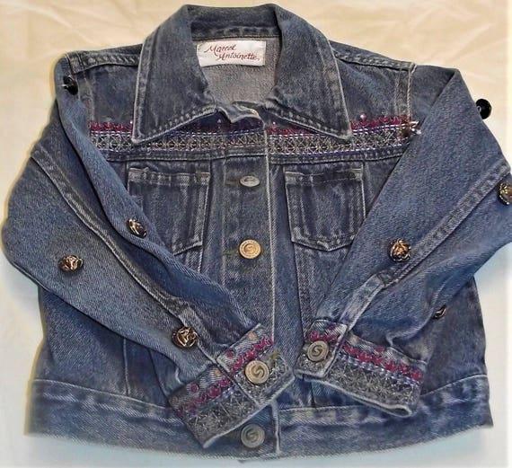 Refurbished Denim Infant Girls Jacket, Size 12mo