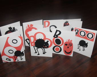 Happy Halloween BOO Blanks Cards Set of 8