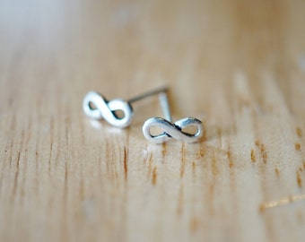 Infinity Studs Infinity Post Earrings Infinity Earrings in Sterling Silver Stud Earrings Infinity Studs TSTM051
