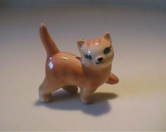 Vintage 1950's miniature Hagen Renaker walking orange tabby cat