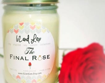 The Bachelor – Bachelor TV Show – The bachelorette – bachelor – final rose – the final rose – bachelor candle – rose scented candle