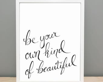 Imprimable word Art - être votre propre genre de belle