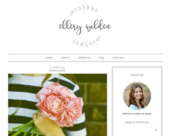 "Blogger Template, Blog Template, Mobile Responsive - ""Ellery