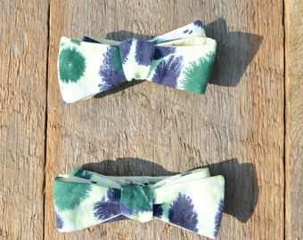 Matching Groomsmen Bow Ties for Men Green Marbled Self Tie for Wedding Day MM-Match#2