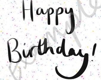 Happy Birthday Print