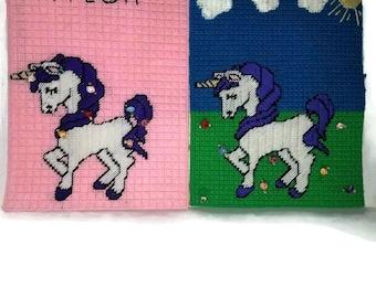 Lucky Unicorn Run Wall Decor Bundle/ Unicorn Gifts / Unicorn wall decor / Customizable Gift / Fantasy Decor / Fantasy Gift