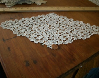 1 cotton 1920s antique lace collar/applique/inset