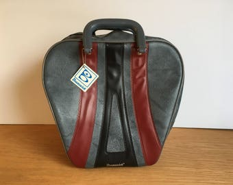 Vintage Brunswick Bowling Bag, Gray, Maroon and Black