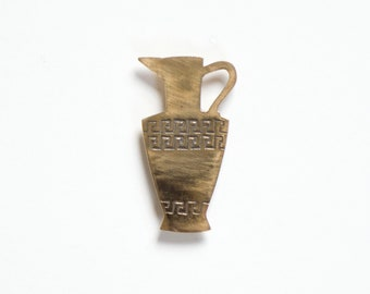 Jug Brooch Pin in Bronze