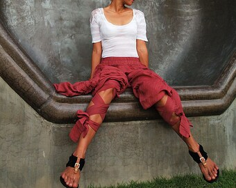 Funky harem pants...Mix silk available in all color /Funky pants /hippie pants / long pants /  (3 sizes M,L,XL)(1128)