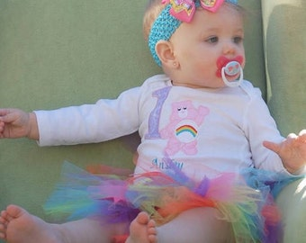 Care Bear birthday tutu outfit for any age, 1st birthday tutu, Care Bear 1st birthday, Care Bear any age tutu outfit, birthday shirt