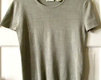 Vintage Ann Taylor Silk Knit Top, Sweater, Tee,  S - XS