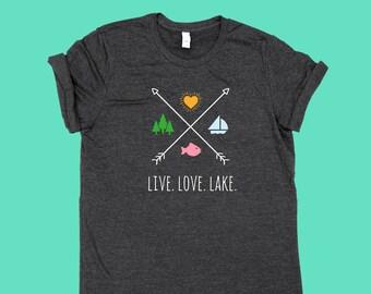 Live Love Lake X - Unisex Jersey SHIRT