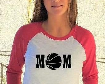 Basketball Mom Baseball Shirt