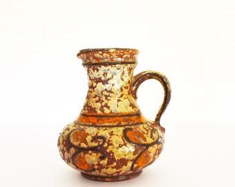 West German Vase - U Keramik (Uebelacker) -1808 14 -  Fat Lava Style  -70's Era