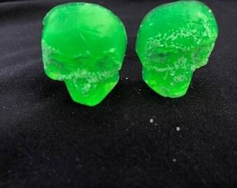5 Mini Skull Soaps - Glycerin Soap - Guest soap - Party favors - Kid soaps -