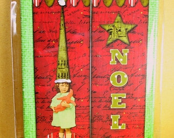 Noel Mini Canvas Magnet - Two by Three Inch