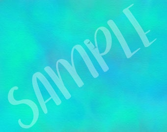 Watercolour in Bright Blues and Aqua on Canvas - Background 9