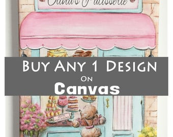 "Canvas Wall Art, .75"" Thick Museum Wrapped Canvas, Custom Canvas Prints, For Nursery Or Kid's Room, Choose Any Design From Shop, Personalize"
