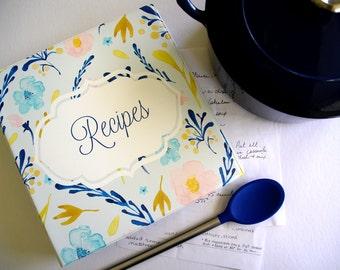 Personalized Pastel Florals Recipe Binder