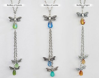 Your choice - Dance of the Fireflies dangle necklace